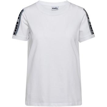 vaatteet Naiset Lyhythihainen t-paita Diadora 502175812 Valkoinen