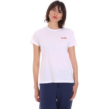 vaatteet Naiset Lyhythihainen t-paita Diadora 102175882 Valkoinen