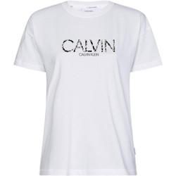 vaatteet Naiset Lyhythihainen t-paita Calvin Klein Jeans K20K201861 Valkoinen