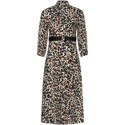 vaatteet Naiset Pitkä mekko Calvin Klein Jeans K20K202568 Ruskea
