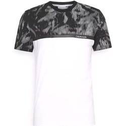 vaatteet Miehet Lyhythihainen t-paita Calvin Klein Jeans K10K106713 Valkoinen