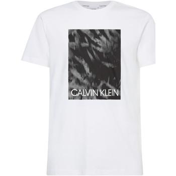 vaatteet Miehet Lyhythihainen t-paita Calvin Klein Jeans K10K106714 Valkoinen