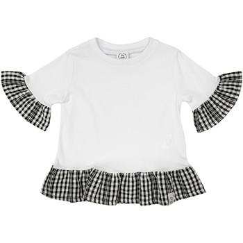 vaatteet Tytöt Lyhythihainen t-paita Naturino 6001011 01 Valkoinen