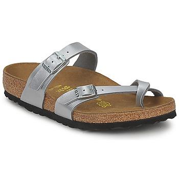 kengät Naiset Sandaalit Birkenstock MAYARI Hopea