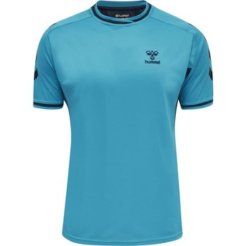 vaatteet Lyhythihainen t-paita Hummel Maillot  Poly hmlACTION bleu/bleu marine