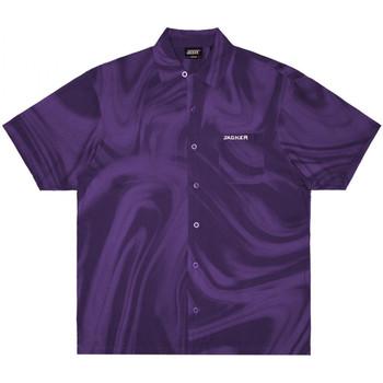 vaatteet Miehet Lyhythihainen paitapusero Jacker Purple potion Violetti
