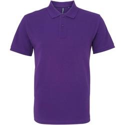 vaatteet Miehet Lyhythihainen poolopaita Asquith & Fox AQ082 Purple