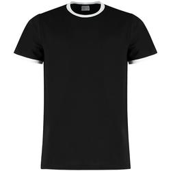 vaatteet Miehet Lyhythihainen t-paita Kustom Kit KK508 Black/White
