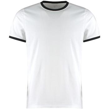 vaatteet Miehet Lyhythihainen t-paita Kustom Kit KK508 White/Black