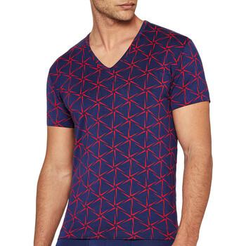 vaatteet Miehet Lyhythihainen t-paita I Am What I Wear 1300J87 K72 Sininen