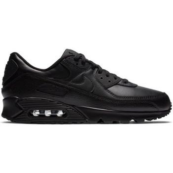 kengät Miehet Matalavartiset tennarit Nike Air Max 90 Leather Mustat