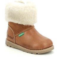 kengät Tytöt Talvisaappaat Kickers Chaussures bébé  Nonofur camel brillant