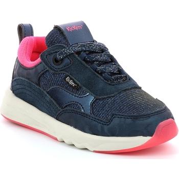 kengät Tytöt Matalavartiset tennarit Kickers Chaussures enfant  Kiwy CDT marine/rose/glitter