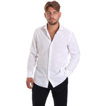 vaatteet Miehet Pitkähihainen paitapusero Les Copains 20P500 P3196SL Valkoinen