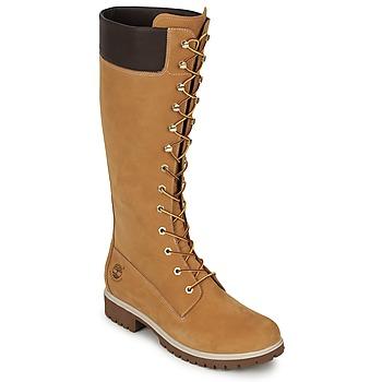 kengät Naiset Saappaat Timberland WOMEN'S PREMIUM 14IN WP BOOT Cognac