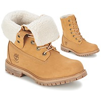 kengät Naiset Bootsit Timberland AUTHENTICS TEDDY FLEECE WP FOLD DOWN Konjakki / Clear