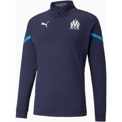 vaatteet Miehet Svetari Puma Sweat Olympique de Marseille Prematch bleu marine/bleu azur