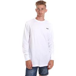 vaatteet Miehet T-paidat pitkillä hihoilla Fila 687606 Valkoinen