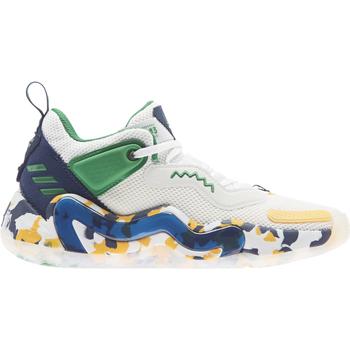 kengät Lapset Koripallokengät adidas Originals Chaussures enfant  D.O.N. Issue 3 J blanc/vert/bleu