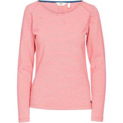 vaatteet Naiset T-paidat pitkillä hihoilla Trespass  Hibiscus Red Stripe