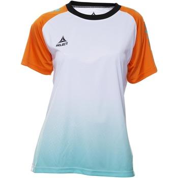 vaatteet Naiset Lyhythihainen t-paita Select T-shirt femme  Player Femina orange/blanc/vert