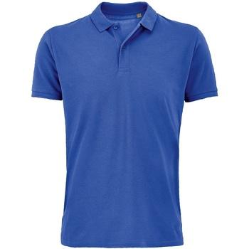 vaatteet Miehet Lyhythihainen poolopaita Sols 03566 Royal Blue