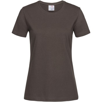 vaatteet Naiset Lyhythihainen t-paita Stedman  Dark Chocolate Brown