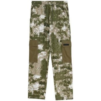 vaatteet Miehet Reisitaskuhousut Sixth June Pantalon  Cargo Camouflage vert camouflage