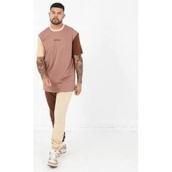 vaatteet Miehet Lyhythihainen t-paita Sixth June T-shirt  Tricolor Regular beige