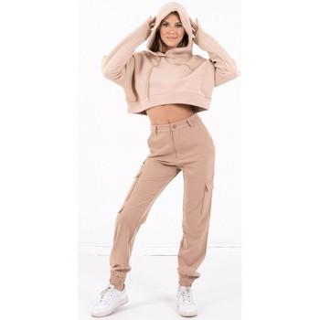 vaatteet Naiset Svetari Sixth June Sweatshirt Crop Top femme  Acid Printed beige