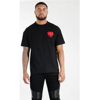 vaatteet Miehet Lyhythihainen t-paita Sixth June T-shirt  Oversize noir