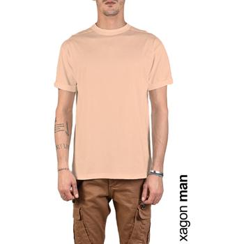 vaatteet Miehet Lyhythihainen t-paita Xagon Man  Vaaleanpunainen