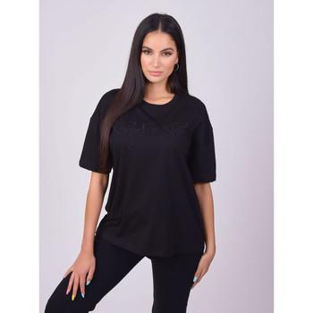vaatteet Naiset Lyhythihainen t-paita Project X Paris T-shirt femme basic noir