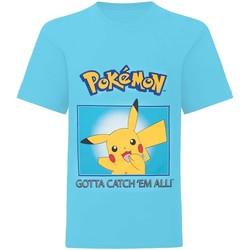 vaatteet Pojat Lyhythihainen t-paita Pokemon  Blue
