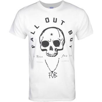 vaatteet Miehet Lyhythihainen t-paita Fall Out Boy  White