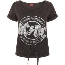 vaatteet Naiset Lyhythihainen t-paita Ac/dc  Black