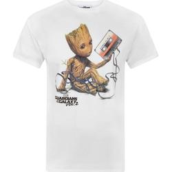 vaatteet Miehet Lyhythihainen t-paita Guardians Of The Galaxy  White