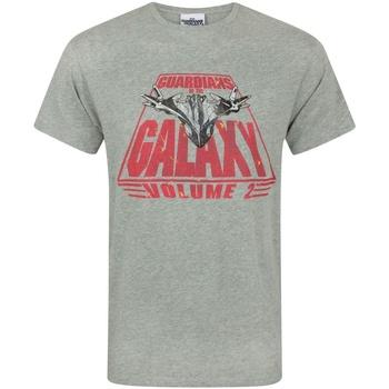 vaatteet Miehet Lyhythihainen t-paita Guardians Of The Galaxy  Grey