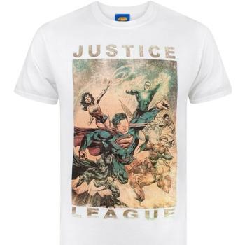 vaatteet Miehet Lyhythihainen t-paita Justice League  White
