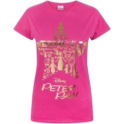 vaatteet Naiset Lyhythihainen t-paita Peter Pan  Pink