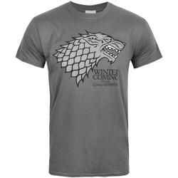 vaatteet Miehet Lyhythihainen t-paita Game Of Thrones  Grey
