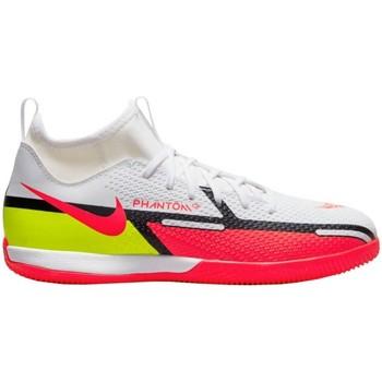 kengät Lapset Matalavartiset tennarit Nike Phantom GT2 Academy IC Junior Valkoiset, Punainen
