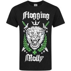 vaatteet Miehet Lyhythihainen t-paita Flogging Molly  Black/White/Green