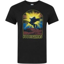 vaatteet Miehet Lyhythihainen t-paita Foo Fighters  Black