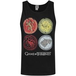vaatteet Miehet Hihattomat paidat / Hihattomat t-paidat Game Of Thrones  Black