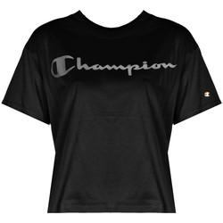 vaatteet Naiset Lyhythihainen t-paita Champion  Musta
