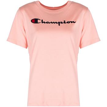 vaatteet Naiset Lyhythihainen t-paita Champion  Vaaleanpunainen