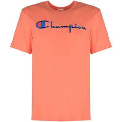 vaatteet Miehet Lyhythihainen t-paita Champion  Vaaleanpunainen