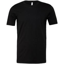 vaatteet Lyhythihainen t-paita Bella + Canvas CVC3001 Black Heather