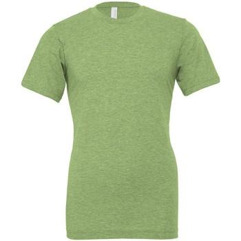 vaatteet Lyhythihainen t-paita Bella + Canvas CVC3001 Heather Green